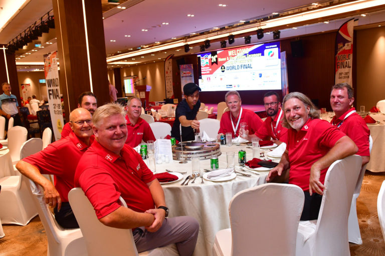 JOHOR, MALAYSIA- OCTOBER 21: Pictured during the Official Welcome Dinner & Flag Raising Ceremony ahead of the World Amateur Golfers Championship (WAGC), World Final, at the Forest City Golf Hotel  on October 21, 2018 in JOHOR,  MALAYSIA . (Photo by Mike Casper / WAGC )